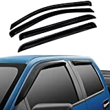 Atomsonic WV_10_Ram_Crew Black Sun/Rain Guard Side Window Deflectors Visors for 2009-2018 Ram 1500/2010-2018 Ram 2500/3500 Crew Cab (DO NOT FIT Quad CAB/Towing Mirror), 4 (Non-Carb Compliant)