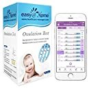 Easy@Home Ovulation Test Strips, 25 Pack Fertility Tests, Ovulation Predictor Kit, Powered by Premom Ovulation Predictor iOS and Android App, 25 LH Strips