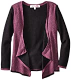 Derek Heart Big Girls' Long Sleeve French Terry Cardigan