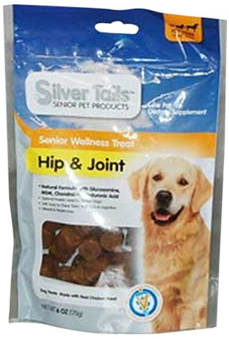 Silver Tails Natural Smoke Hip and Joint Wellness Dog Soft Chew Treats, 6-Ounce, My Pet Supplies