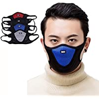Brats N Beauty® - Anti Pollution Multi ColorMask Air Dust Face Masks Washable and Reusable Mouth Cover Windproof Dustproof Safety Mask for Men Women Outdoor Activities