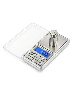 Bilancia di Precisione, (500 - 0.01g) Bilancia da Cucina Digitale Piccola, Bilance Elettriche per Gioielli, Display LCD Retroilluminato, Acciaio Inossidabile, per Ingredienti, Gioielli, Caffè