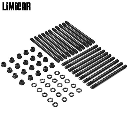 LIMICAR Cylinder Head Stud Set For 2003-2007 Ford F250 F350 Super Duty 2003-2005 Ford Excursion PowerStroke 6.0L Turbo Diesel 250-4202 -
