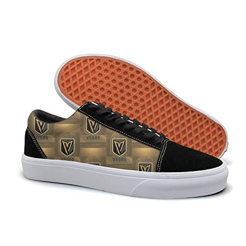 Designsonic Vegas Hockey Victory Arch Logo Man Skate Shoe Slip On Shoes Low Top