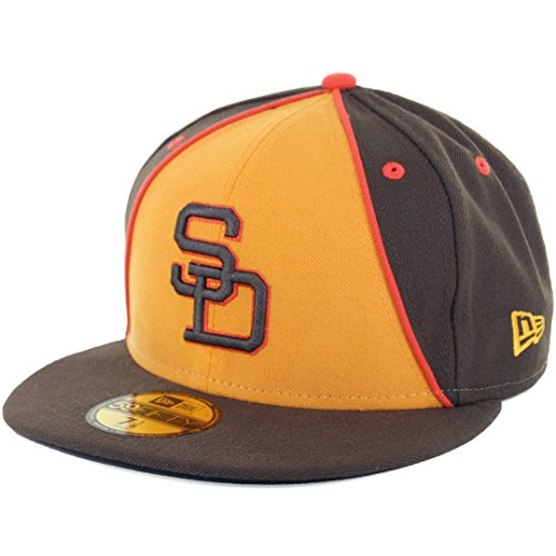 New Era SD San Diego Padres 1984 Retro 2 Fitted Hat (Brown/Gold) 59Fifty ()