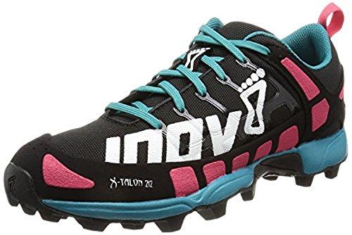 Inov8 Dames X-talon 212 Trail Hardloopschoenen & Trainingsvizier Bundel Zwart / Roze / Groenblauw