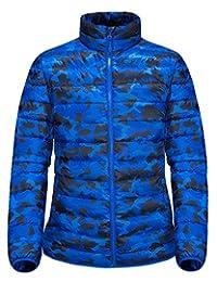 Men's Camouflage Thicken Warm Down Jacket Outdoor Packable Slim Fit Down Coat