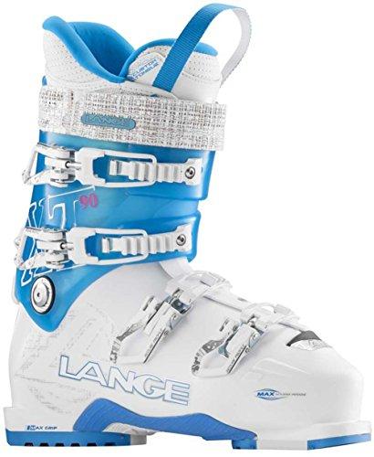 (Lange XT 90 Ski Boot - Women's White/Tr Blue 235)