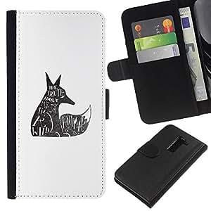 All Phone Most Case / Oferta Especial Cáscara Funda de cuero Monedero Cubierta de proteccion Caso / Wallet Case for LG G2 D800 // Wolf Wild Animal Rights Quote Tattoo