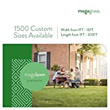 """MegaGrass 6 x 65 Ft MegaLawn Premiere Artificial Grass for Pet Lawn and Landscaping Outdoor or Indoor Green Faux Fake Grass Decor Mat Rug Carpet Turf 390 SqFt 1.6"""" Tall Blades 50 oz Face Weight"""