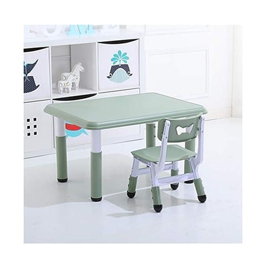 ZHAOHUI - Juego de Mesa y sillas para niños de Altura Ajustable de ...