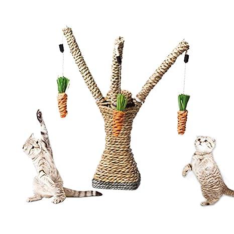 CZ-XING - Arbol interactivo para gatos con cuerda de sisal para mascotas, para