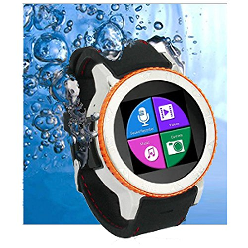 Indigi WATERPROOF ANDROID 4.4 TOUCH SCREEN 3G SMART WATCH PHONE AT&T T-MOBILE UNLOCKED! Smart Watches Unlocked Smartphone