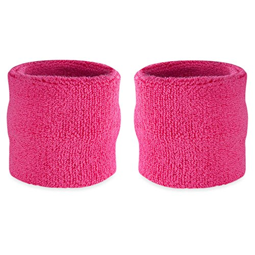 Suddora Wrist Sweatband Also Available in Neon Colors - Athletic Cotton Terry Cloth Wristband for Sports (Pair) (Neon (Team Costume Ideas For Work)