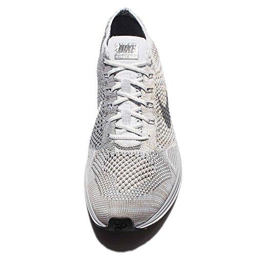 Nike Heren Vliegenshirt Racer Puur Platina / Koel Grijs-wit