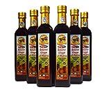 De La Rosa Real Foods & Vineyards - Kosher Organic Italian Aged Balsamic Vinegar of Modena - 500 ml (Pack of 6)