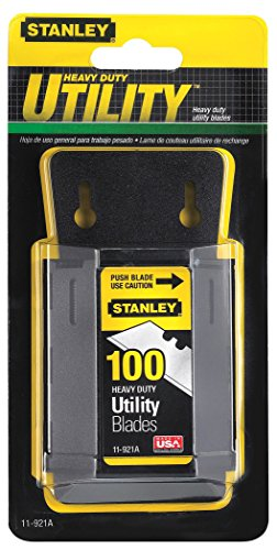 - Stanley 11-921A 1992 Heavy Duty Utility Blades w/Dispenser 100 per Package (3 packages 300 Blades)