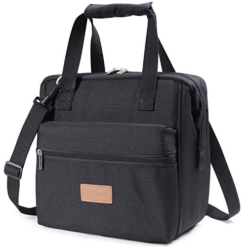 Lifewit 10L Insulated Lunch Box Bag for Adults Men Women, 3-Way Carrying Thermal Bento Bag Cooler Bag for Work/School/Picnic, Black ()