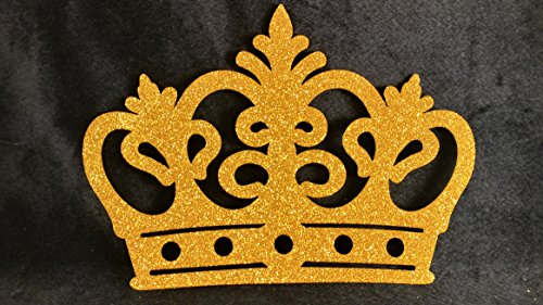 Golden Foam Crown for Prince or Princess (10 pieces) with glitter -