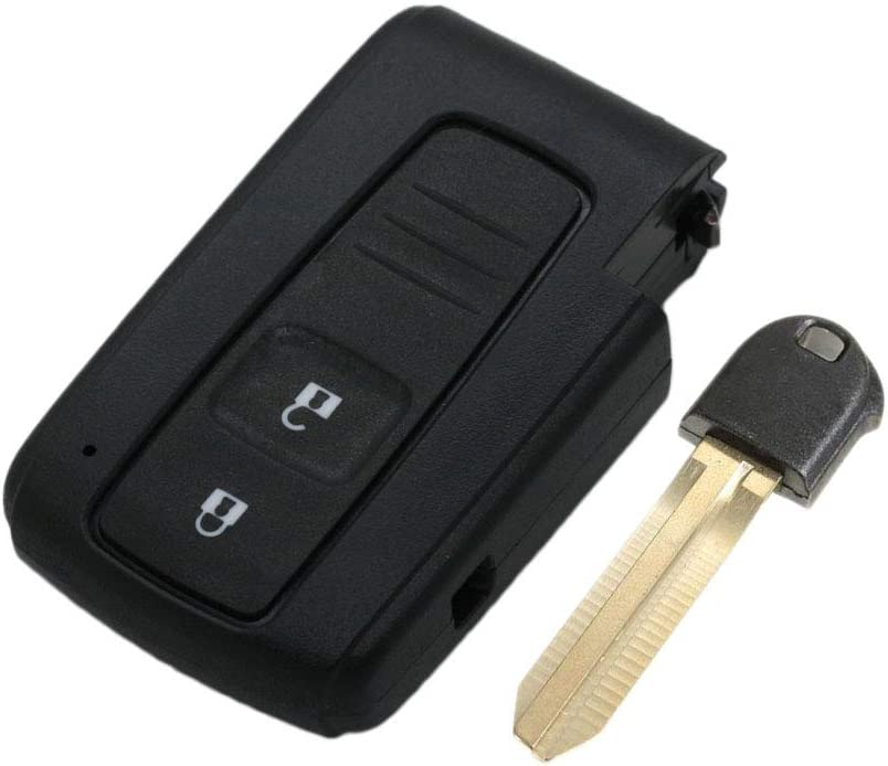 SEGADEN Replacement Key Shell Uncut Blank Emergency Insert Key fit for TOYOTA Prius 3 Button Smart Keyless Entry Remote Key Case Fob PG427B