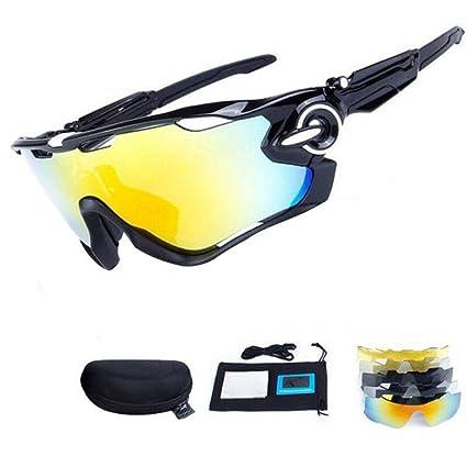 HTTOAR Gafas de Sol uv400 Bicicleta Gafas Deportivas para Hombres y Mujeres (Black White)
