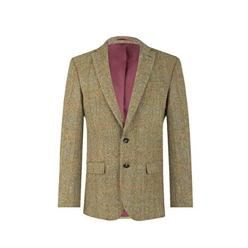 Traje Hombre Tweed Quality Marrón Chaqueta De Por High Dobell Harris HbeWDIE2Y9