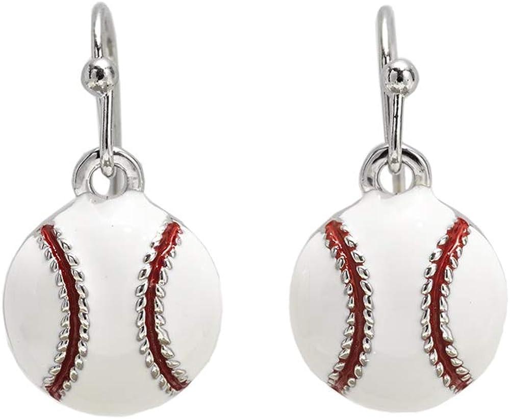 GIMMEDAT Baseball Enamel Dangle Earrings Jewelry Women Mom Fan Gift