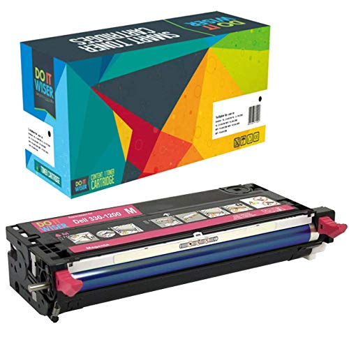 Do it Wiser Compatible Toner Cartridge Replacement for Dell 3130 3130cn - 330-1200 - Magenta High - Cartridge Toner 1200 Magenta