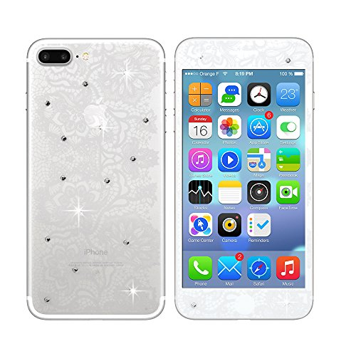 3D Diamond Tempered Glass Screen Protector iPhone 7 (Black) - 6