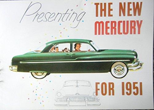 1951 MERCURY FULL COLOR DEALERSHIP SALES BROCHURE - Includes Sport Coupe, Sport Sedan, Station Wagon, 6-Passenger Convertible, Monterey - ADVERTISMENT - LITERATURE 51