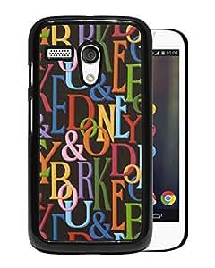 Newest Mogo G Case,Dooney Bourke DB 02 Black High Quality Hot Sale Motorola Moto G Phone Case