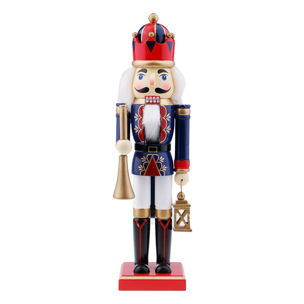 Flameer Toy Wooden Nutcracker Walnut Puppet Soldiers Ornaments Christmas Gift Birthday Gift Christmas Ornaments - #1
