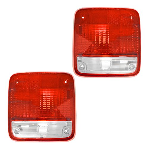 (Taillights Lamps Taillamps Pair Set Rear Brake for 85-96 Chevy GMC Van Full)