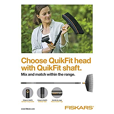 Fiskars QuikFit Handle S, for QuikFit Hand Tools, Length: 24 cm, Black/Orange, 1000663 : Garden & Outdoor