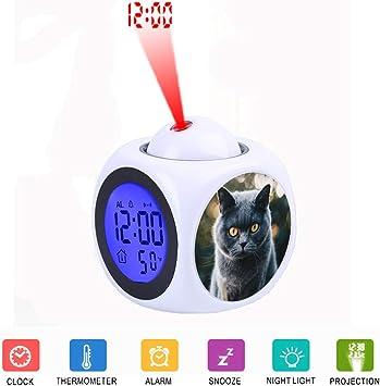 FDC Gray Cat - Despertador Digital con Pantalla LCD y proyector ...