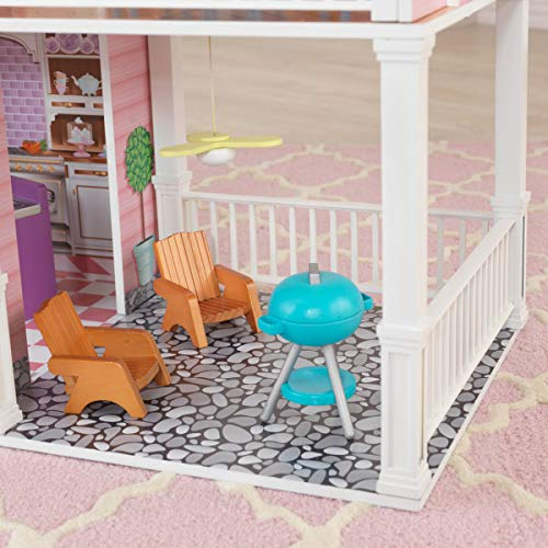 51nW5Rg1nTL - KidKraft So Chic Dollhouse with Furniture