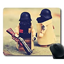 Custom Special Mouse Pad with Toys Lego Designer Weapons Soldiers Non-Slip Neoprene Rubber Standard Size 9 Inch(220mm) X 7 Inch(180mm) X 1/8 Inch(3mm) Desktop Mousepad Laptop Mousepads Comfortable Computer Mouse Mat