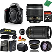 Great Value Bundle for D3300 DSLR – 18-55mm AF-P + 70-300mm AF-P + 16GB Memory + Wide Angle + Telephoto Lens + Case