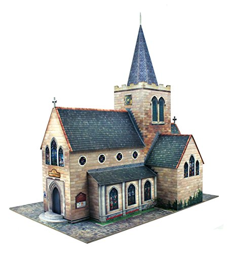 O gauge 7mm 1:48 scale Model Railroad Building CHURCH Kit The CityBuilder
