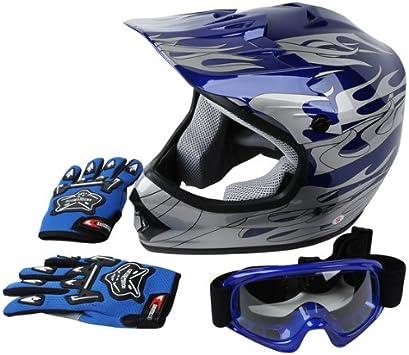 S M L dirt bike MX quad ATV Kids Youth Matte Pink Motocross Helmet /& Goggles