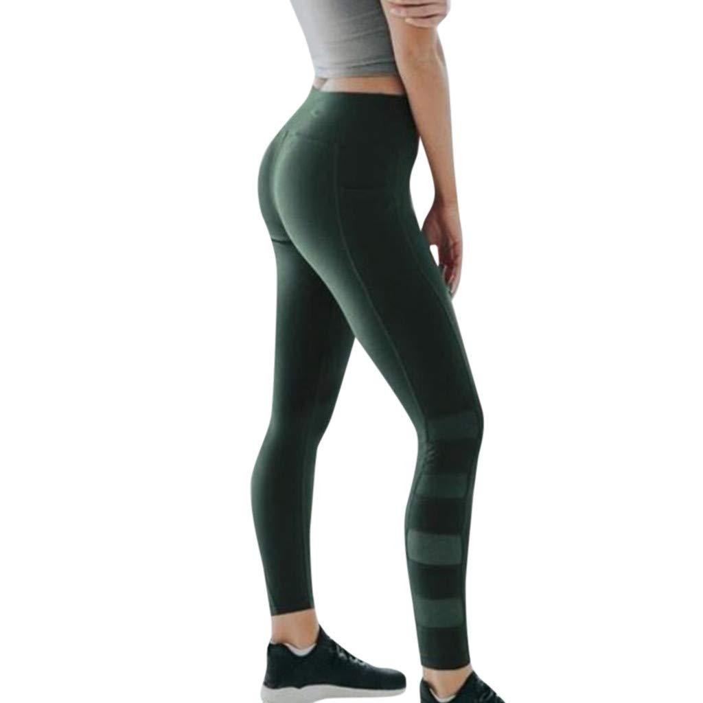 MINXINWY Mallas Running Mujer, Pantalones de Fitness de ...