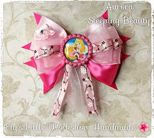 Sleeping Beauty, Aurora, Hair Bow, Disney inspired AURORA Character, 100% Handmade, Girls, 5