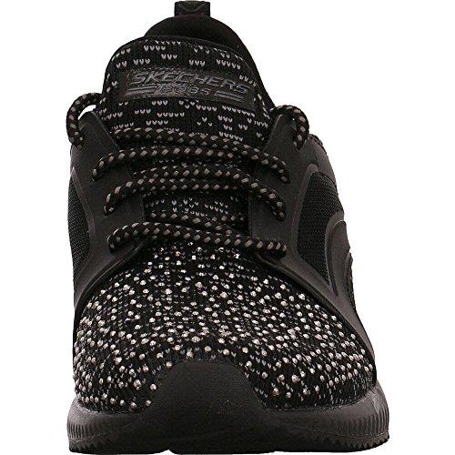 Nero Write 39 Sky bksl Sneakers Skechers Squad 31373 Argento Nero Bobs nFIBxtv