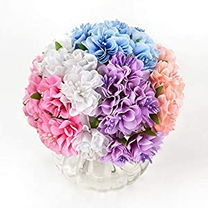 Mini Flowers Bouquet in bulk wholesale for Crafts Silk Daisy Artificial Rose Bouquet DIY Wedding Decoration Fake Flower Scrapbooking Flowers Party Birthday Home Decor 30pcs/lot 3.5cm 25