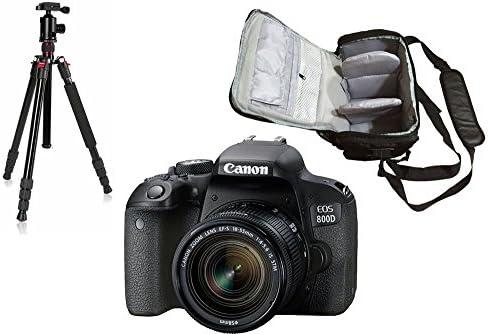 800D DSLR Cámara + EF-S 18-55 mm f / 4-5.6 IS STM Lente + KamKorda ...