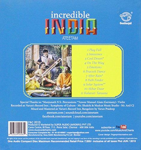 Various - Incredible India - Ateetam (Fusion Instrumental) - Amazon