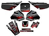 Senge Graphics 1985-2000 Honda XR 80/100 Surge Black Graphics kit