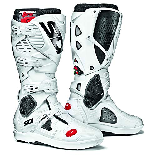 (Sidi Crossfire 3 SRS Off Road Motorcycle Boots White US11/EU45 (More Size Options))