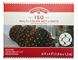 Holiday Multi-Color Net Lights - 6ft x 4ft - 150 Lights