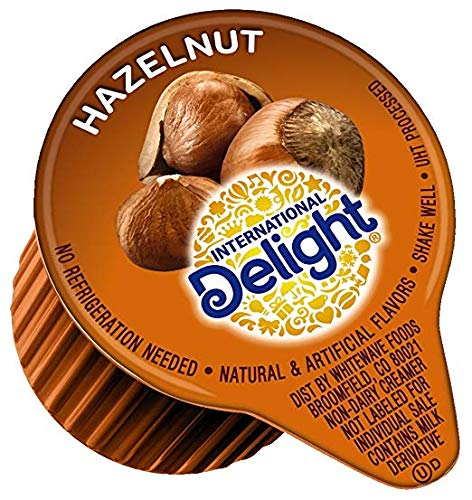 International Delight Hazelnut Coffee Creamer Singles 192 Count (2 Packs)